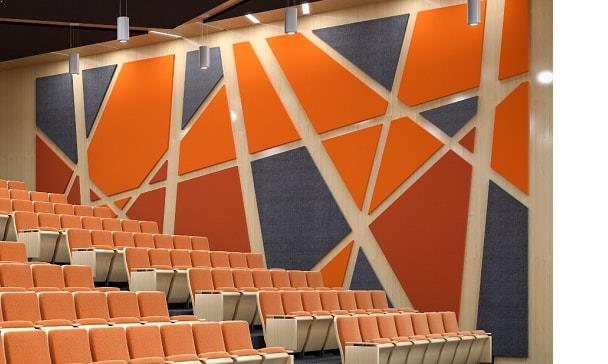 acoustic fabric panels supplied by Top Surface Building Materials Trading LLC