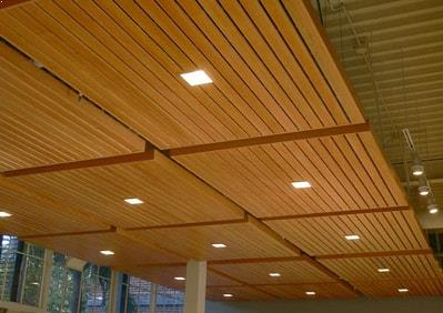 Acoustic wood panel supplied by Top Surface Building Materials Trading LLC