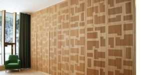 design wall panels installed by Top Surface Building Materials Trading LLC
