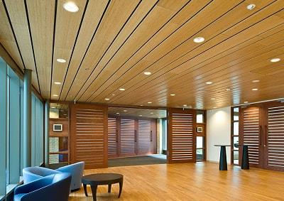 Ceiling acoustic solutions by Top Surface Building Materials Trading LLC
