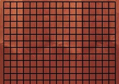 grid wooden panel installed by Top Surface Building Materials Trading LLC