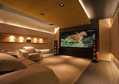 Home theater acoustics by Top Surface Building Materials Trading LLC