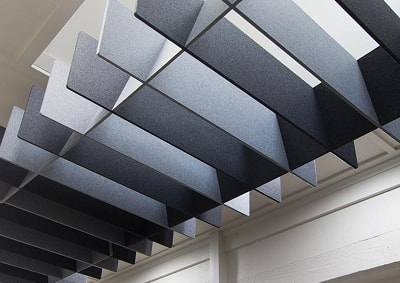 industrial baffles installed by Top Surface Building Materials Trading LLC