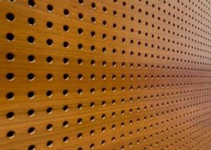 proforated wood panel by Top Surface Building Materials Trading LLC