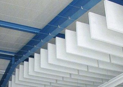 sky baffles installed by Top Surface Building Materials Trading LLC