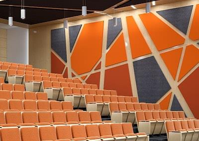 Theater acoustics by Top Surface Building Materials Trading LLC