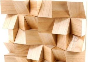 wooden sound diffuser installed by Top Surface Building Materials Trading LLC